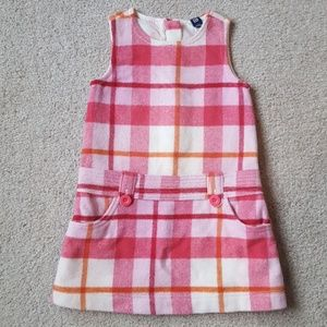 Baby Gap Pink Plaid Wool Jumper
